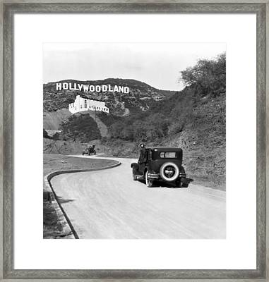 Hollywoodland Framed Print by Underwood Archives