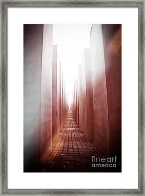 Holocaust Memorial Berlin Framed Print by Jane Rix