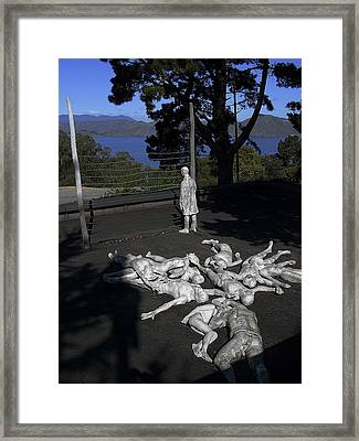 Holocaust Memorial In San Francisco Framed Print by Daniel Hagerman