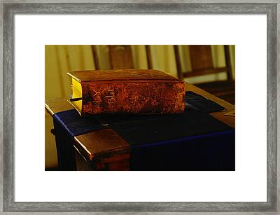 Holy Bible In Lincoln City Framed Print by Jeff Swan