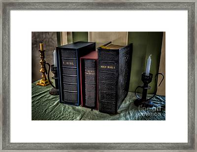 Holy Bibles Framed Print by Adrian Evans