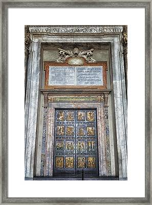 Holy Door Framed Print by Joan Carroll