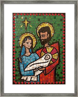 Holy Family II Framed Print by Julie Mazzoni