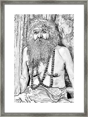 Holy Man Sketch Framed Print by Steve Harrington