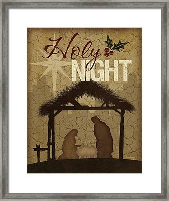Holy Night Nativity Framed Print by Jennifer Pugh