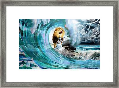 Holy Roar Framed Print by Dolores Develde