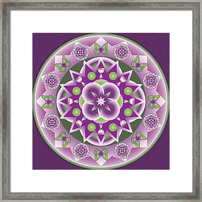 Holy Week Mandala Framed Print by Linda Pope