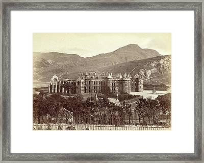Holyrood Abbey And Holyrood Palace In Edinburgh Framed Print by Artokoloro