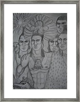 Homage To Aztec Civilization Framed Print by Cindy MILLET