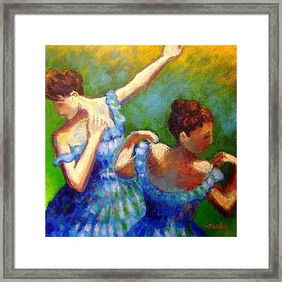 Homage To Degas Framed Print by John  Nolan