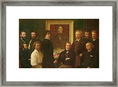 Homage To Delacroix, 1864 Oil On Canvas Framed Print by Ignace Henri Jean Fantin-Latour