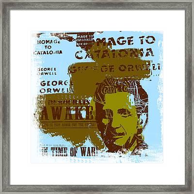 Homage To 'george Orwell' Framed Print by Jeff Burgess