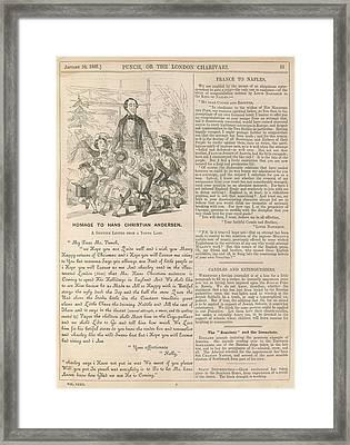 Homage To Hans Christian Andersen Framed Print by British Library
