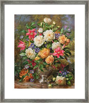 Homage To Her Majesty The Late Queen Elizabeth The Queen Mother Framed Print by Albert Williams
