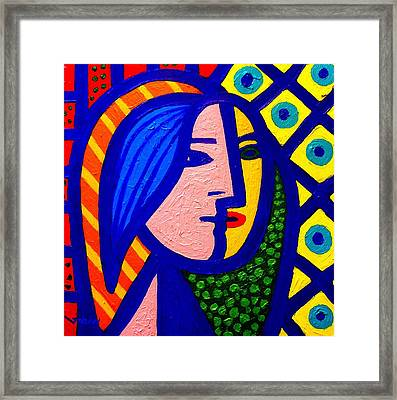 Homage To Pablo Picasso Framed Print by John  Nolan