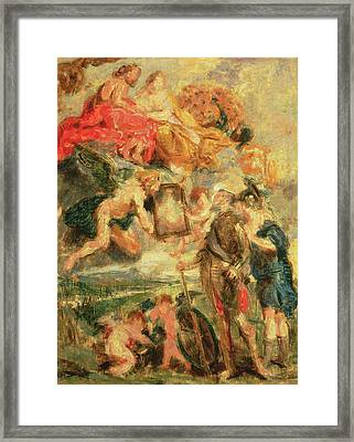 Homage To Rubens Framed Print by Ignace Henri Jean Fantin-Latour