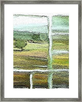 Home Alone As A  Patchwork Quilt Framed Print by Lenore Senior