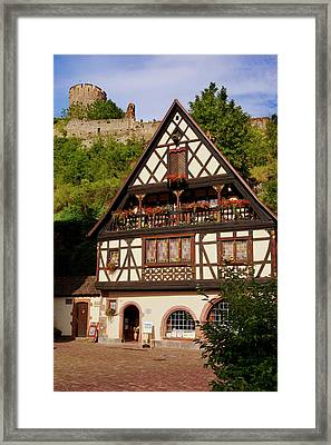 Home And Shop In Kaysersberg Framed Print by Brian Jannsen
