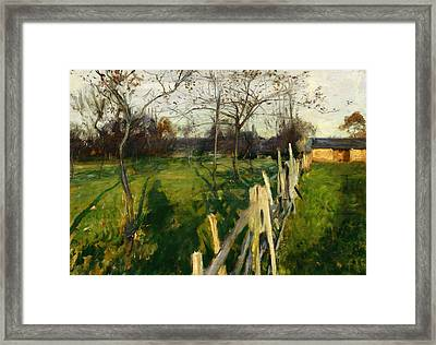 Home Fields Framed Print by John Singer Sargent