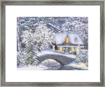 Home For The Holidays Framed Print by Mo T