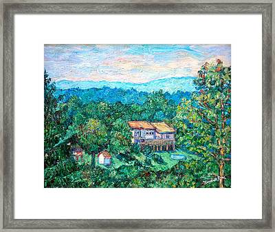 Home In The Hills Framed Print by Kendall Kessler