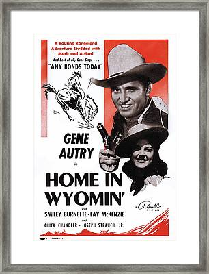 Home In Wyomin, From Top Gene Autry Framed Print by Everett