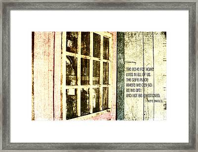 Home Is Framed Print by Bonnie Bruno