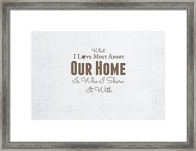 Home Is Where The Heart Is Framed Print by Chastity Hoff