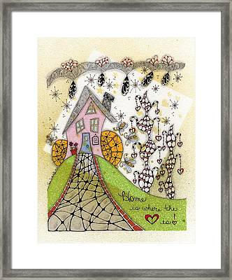 Home Is Where The Heart Is Framed Print by Paula Dickerhoff
