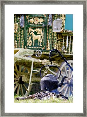 Home Is Where The Hearth Is Framed Print by Tim Gainey