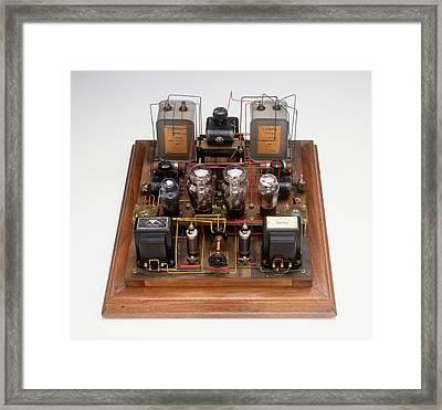 Home-made Radio Amplifier Framed Print by Dorling Kindersley/uig