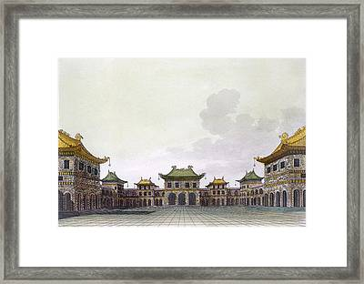 Home Of A Rich Individual In Peking Framed Print by Italian School