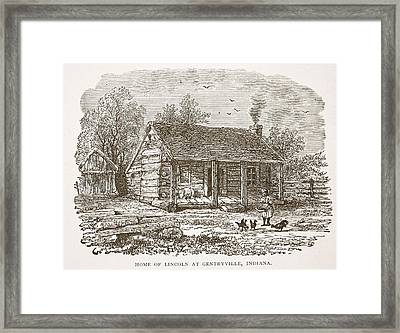 Home Of Lincoln At Gentryville Framed Print by American School