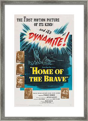 Home Of The Brave, Us Poster, From Top Framed Print by Everett
