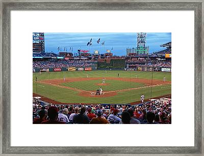 Home Of The Phillies Framed Print by Lanis Rossi
