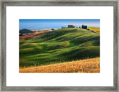 Home On The Hill Framed Print by Inge Johnsson