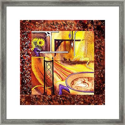 Home Sweet Home Decorative Design Welcoming One Framed Print by Irina Sztukowski
