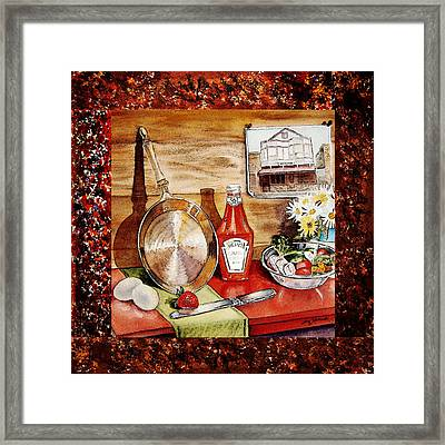 Home Sweet Home Welcoming Five Framed Print by Irina Sztukowski