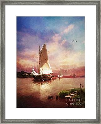 Home To The Harbor Framed Print by Lianne Schneider