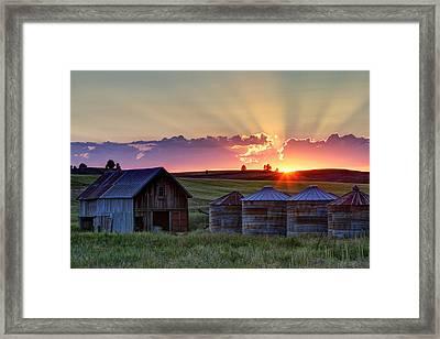 Home Town Sunset Framed Print by Mark Kiver
