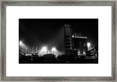 Homefield Lights Framed Print by Michael Misciagno