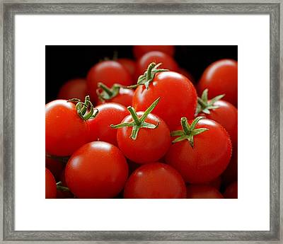Homegrown Tomatoes Framed Print by Rona Black