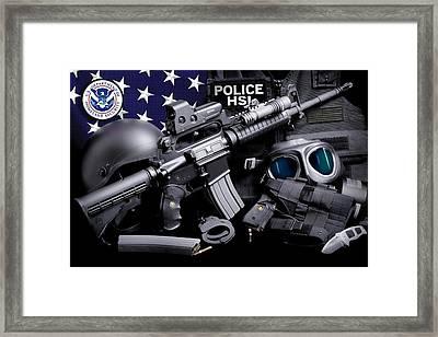 Homeland Security 3 Framed Print by Gary Yost