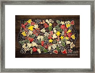 Homemade Christmas Cookies Framed Print by Elena Elisseeva