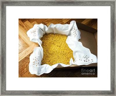 Homemade Noddles Framed Print by Sinisa Botas