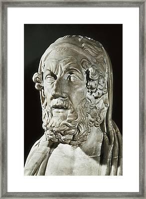 Homer 9th Century  Bc. Greek Writer Framed Print by Everett