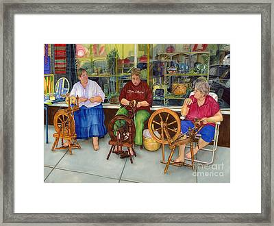Homespun Fun Framed Print by Hailey E Herrera
