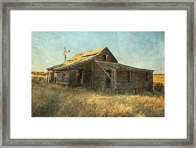 Homestead Framed Print by Angie Vogel