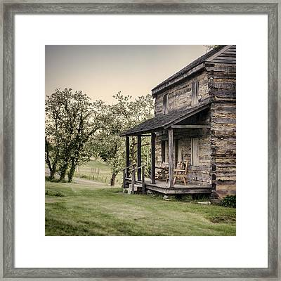 Homestead At Dusk Framed Print by Heather Applegate