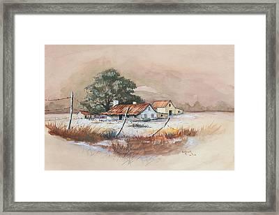 Homestead Framed Print by Bob Hallmark